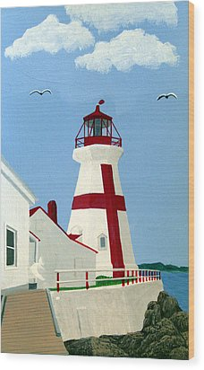 East Quoddy Head Lighthouse Wood Print by Frederic Kohli