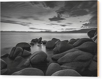 Wood Print featuring the photograph East Shore Serenity - Lake Tahoe by Brad Scott