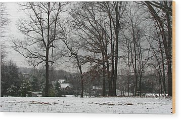East Tennessee Winter Wood Print by Todd A Blanchard