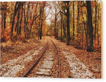 Eastbound Wood Print by Sandy Keeton