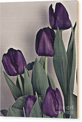 A Display Of Tulips Wood Print by Sherry Hallemeier
