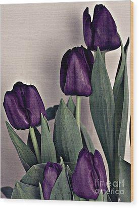 A Display Of Tulips Wood Print