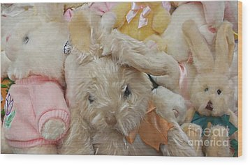 Wood Print featuring the photograph Easter Bunnies by Benanne Stiens