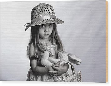 My Bunny Wood Print by Kevin Cable