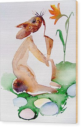 Easter Bunny Wood Print by Mindy Newman