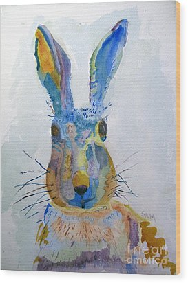 Easter Bunny Wood Print by Sandy McIntire