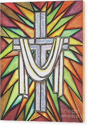 Easter Cross 5 Wood Print by Jim Harris