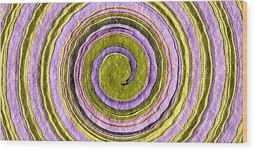 Easter Egg Swirl Wood Print by Terry Mulligan