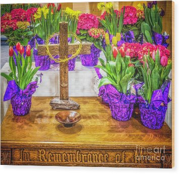 Wood Print featuring the photograph Easter Flowers by Nick Zelinsky