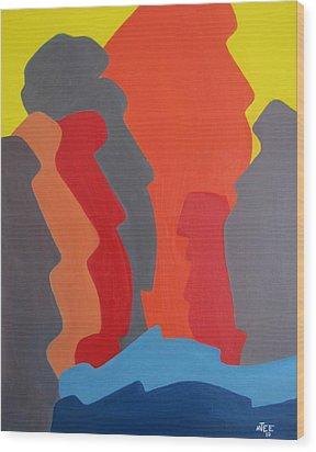 Easter Island Wood Print by Michael  TMAD Finney AKA MTEE