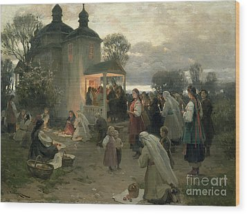 Easter Matins Wood Print by Nikolai Pimonenko