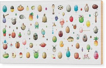 Eastereggs Wood Print by Kestutis Kasparavicius