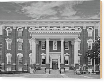 Eastern Kentucky University Building Wood Print by University Icons