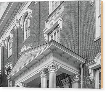 Eastern Kentucky University Crabbe Library Detail Wood Print by University Icons