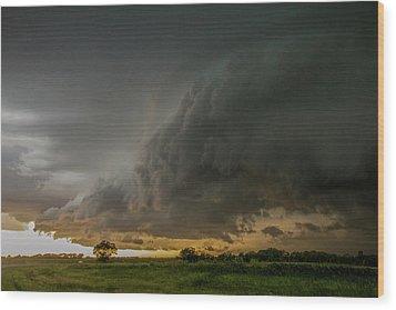 Eastern Nebraska Moderate Risk Chase Day Part 2 004 Wood Print