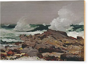 Eastern Point Wood Print by Winslow Homer
