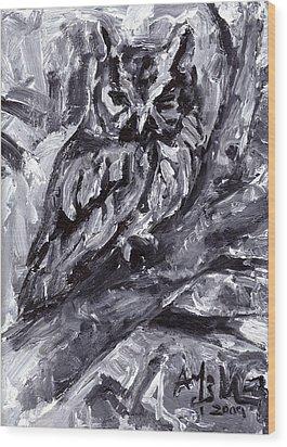 Eastern Screech-owl Wood Print