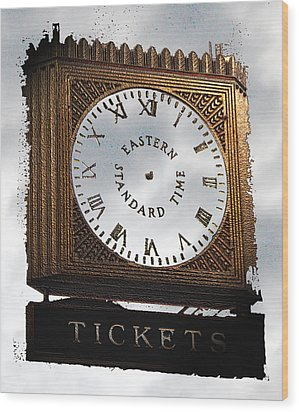 Wood Print featuring the photograph Eastern Standard Time by Christopher Woods