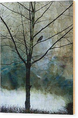 Eastward Wood Print by Carol Leigh