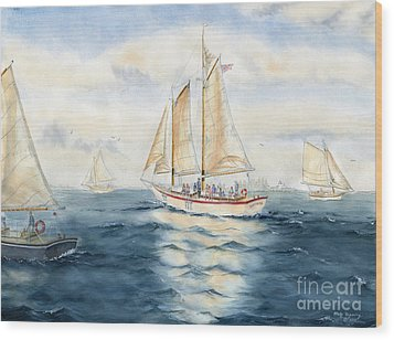 Eastwind Wood Print by Melly Terpening