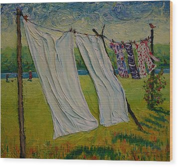 Easy Breezy Wood Print by Dorothy Allston Rogers