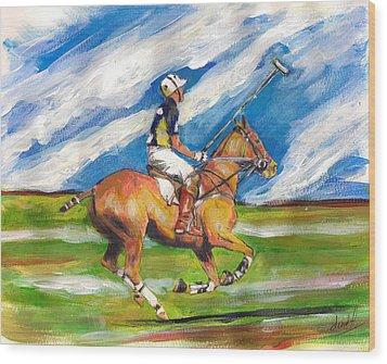 Easy Gallop Wood Print by Debora Cardaci