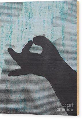 Easy Green Wood Print by Sean-Michael Gettys