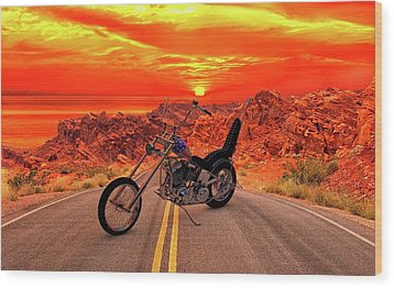 Wood Print featuring the photograph Easy Rider Chopper by Louis Ferreira