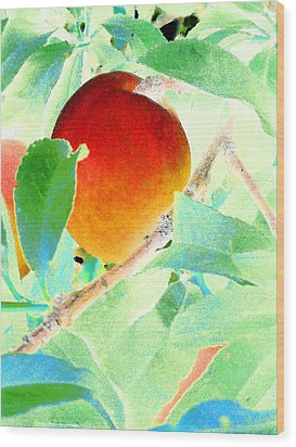 Eat A Peach Wood Print