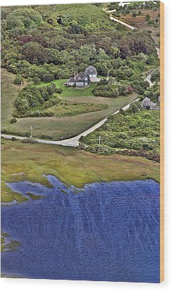 Eat Fire Spring Road Polpis Nantucket Island  Wood Print