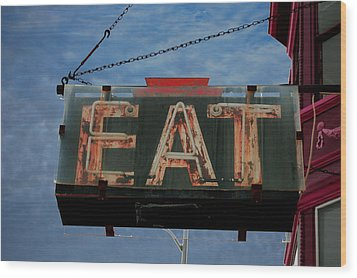 Eat Wood Print by Jame Hayes
