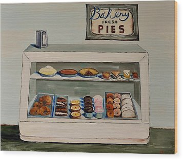 Eat More Pie Wood Print by Lindsay Frost