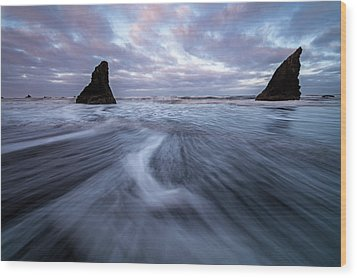 Wood Print featuring the photograph Ebb And Flow by Mike Lang