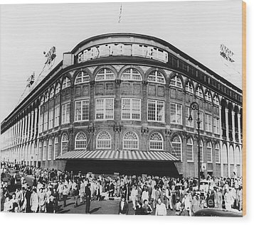 Ebbets Field, Brooklyn, Nyc Wood Print by Photo Researchers