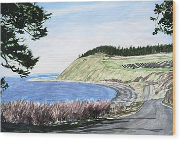 Ebey's Landing Wood Print by Perry Woodfin