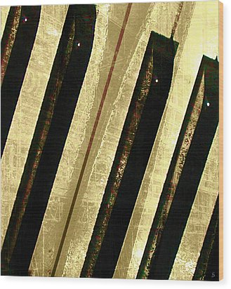 Wood Print featuring the digital art Ebony And Ivory by Ken Walker