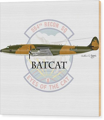 Ec-121r Batcat Wood Print by Arthur Eggers