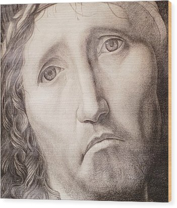 Ecce Homo Wood Print by Roland Pangrati