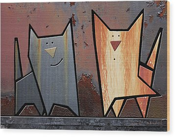 Eccentric Wood Print by Joan Ladendorf