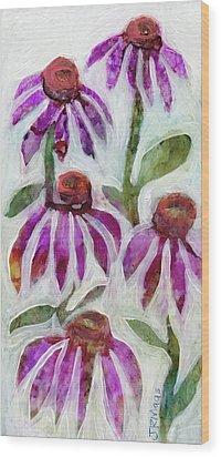 Echinacea Wood Print by Julie Maas