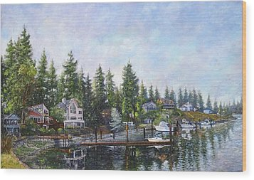 Echo Bay Three Wood Print by Charles Munn
