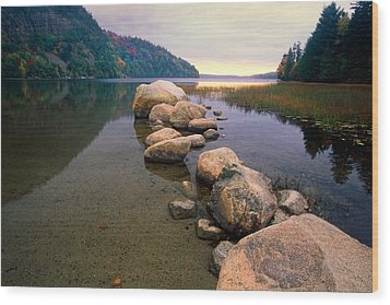 Echo Lake Sunset Wood Print by George Oze