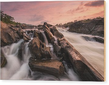 Wood Print featuring the photograph Echoes At Daybreak by Bernard Chen