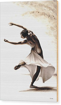 Eclectic Dancer Wood Print by Richard Young