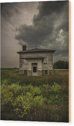 Wood Print featuring the photograph Eclipse Apocalypse by Aaron J Groen