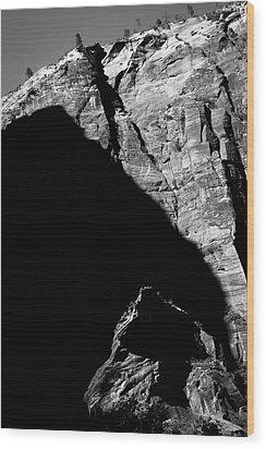 Eclipse Wood Print by Skip Hunt