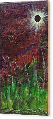 Eclpise II Wood Print by Tony Rodriguez