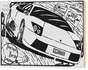 Economy In High Gear By Yonatan Frimer Wood Print by Yonatan Frimer Maze Artist