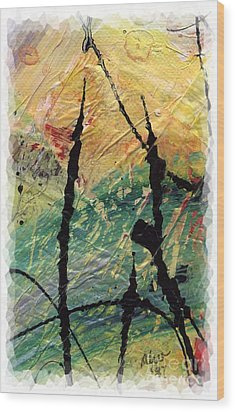 Wood Print featuring the painting Ecstasy II by Angela L Walker