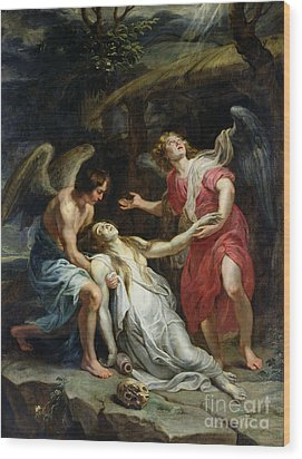 Ecstasy Of Mary Magdalene Wood Print by Peter Paul Rubens